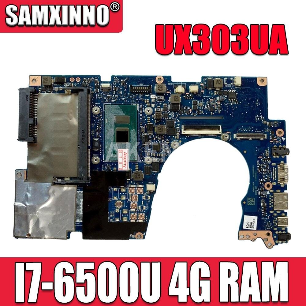Akemy UX303UA 4G/I7-6500U 90NB08V0-R00020 اللوحة ل For Asus UX303UA UX303U UX303UB U303U Laptop Mainboard 100% اختبار