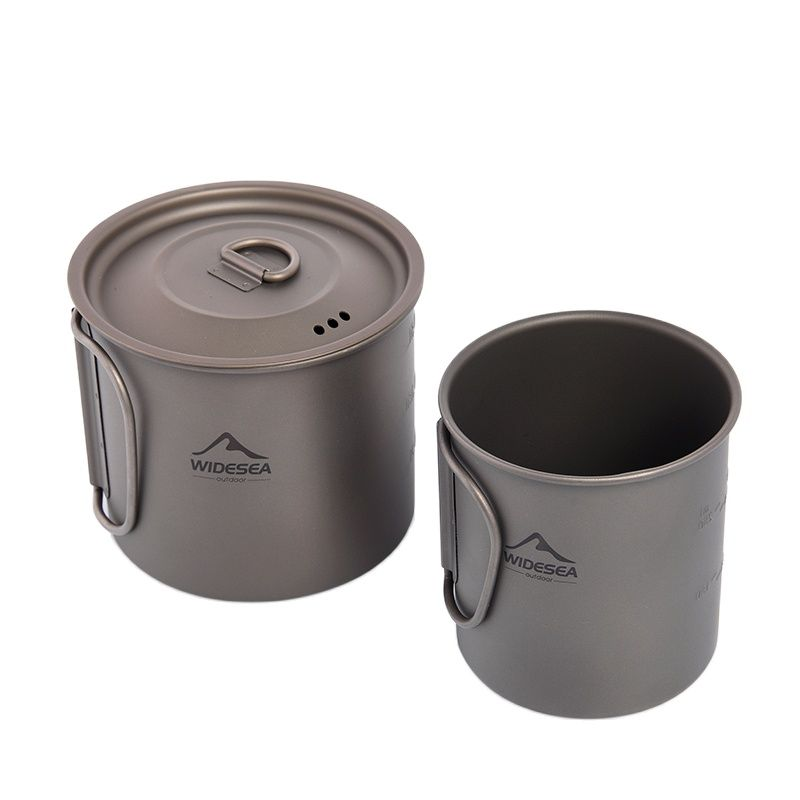 1l keith titanium bowl big capacity folding lunch box outdoor camping travel hiking cooking dinner box with titanium lid ti5328 Camping Mug Titanium Cup Tourist Tableware Picnic Utensils Outdoor Kitchen Equipment Travel Cooking set Cookware Hiking