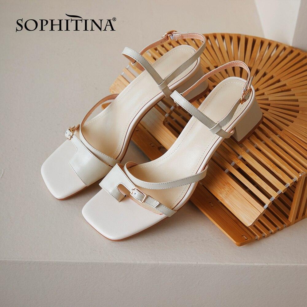 سوفيتينا أحذية نسائية صيف جديد أنيق الترفيه مريحة صنادل سيدات فستان كاجوال موضة موجزة الصنادل النساء MO584