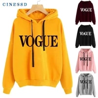 clothing autumn and winter 2021 new printed letters loose sweater pullover plush thickened hoodie blouses