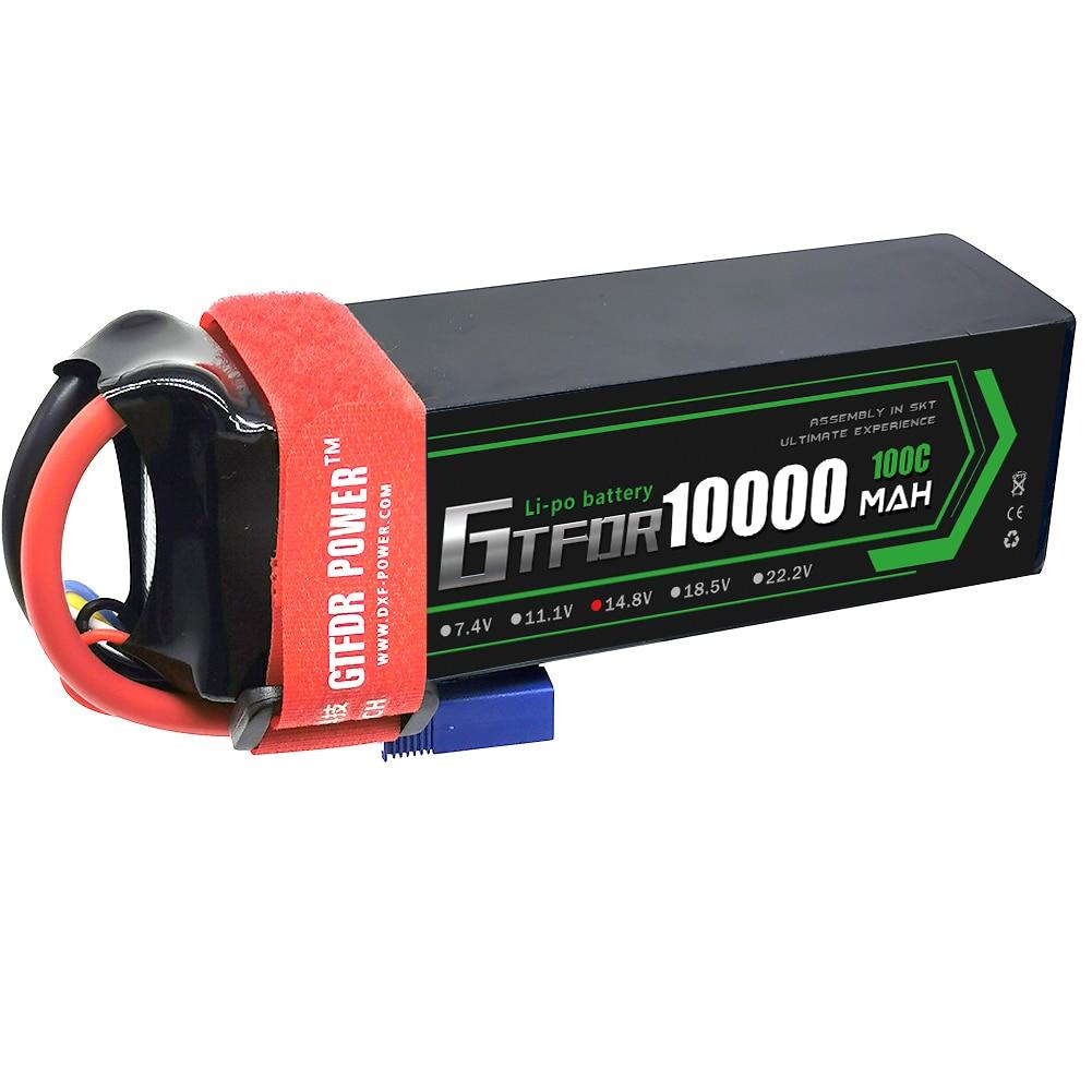 GTFDR 4S Lipo Battery 14.8V 10000mAh 100C 200C Deans/T XT90 EC5 XT90 for RC 1/8 1/10 Car Truck Tank RC Models XXMAX 8S Arrama 8S enlarge
