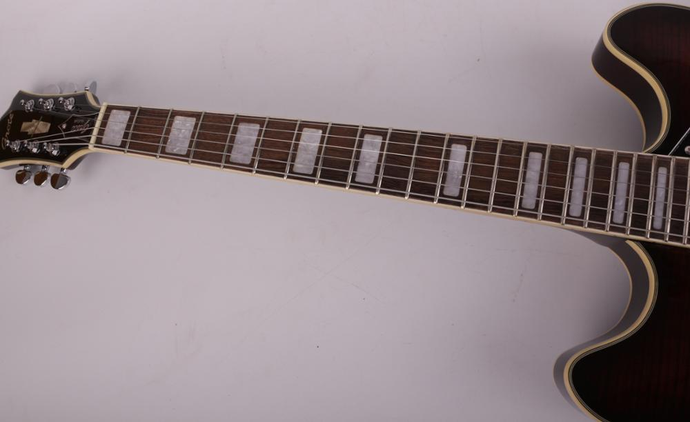 Good quality jazz hollow body f hole electric guitar free shipping enlarge