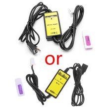 Interface de Radio de lecteur MP3 dadaptateur de câble Aux dusb de voiture automatique pour le câble Audio AUX de Toyota Camry/Corolla/Matrix 2 * 6Pin
