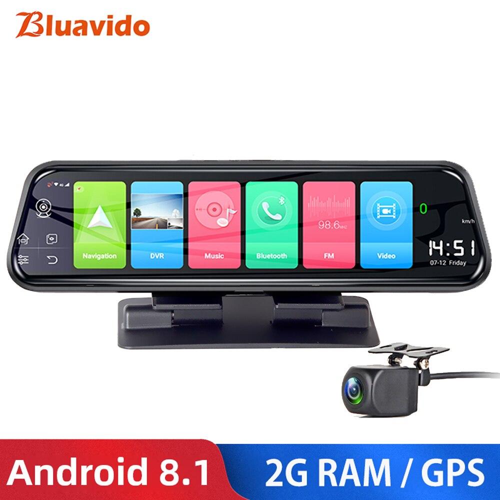 "Bluavido 10"" 4G Android Car DVR Camera GPS naivgation ADAS FHD 1080P Dashcam Night vision Video Recorder WiFi APP Remote Monitor"