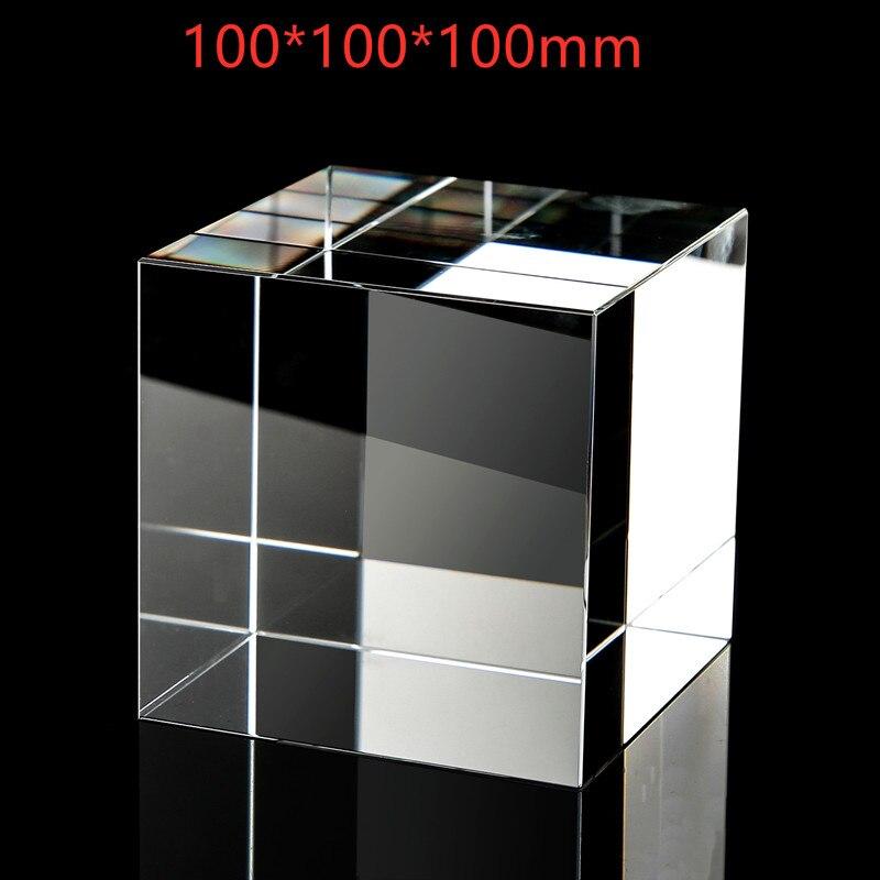 مكعب كريستال بأربعة جوانب 100*100*100 مللي متر ، صور إبداعية للأطفال ، قوس قزح