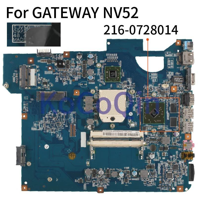Placa base para portátil KoCoQin para placa base GATEWAY NV52 09228-SB AMD 216-0728014 DDR2