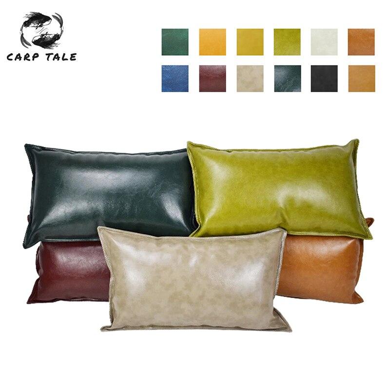 Vários tamanhos capas de travesseiro capa de almofada de couro do plutônio cor sólida fronhas para casa hotel decorativo sofá lance fronha capa