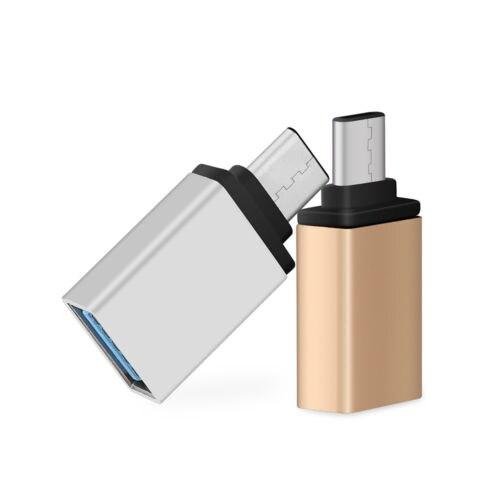1 pc metal tipo c macho para usb 3.0 fêmea otg sincronização de dados para macbook & computador portátil