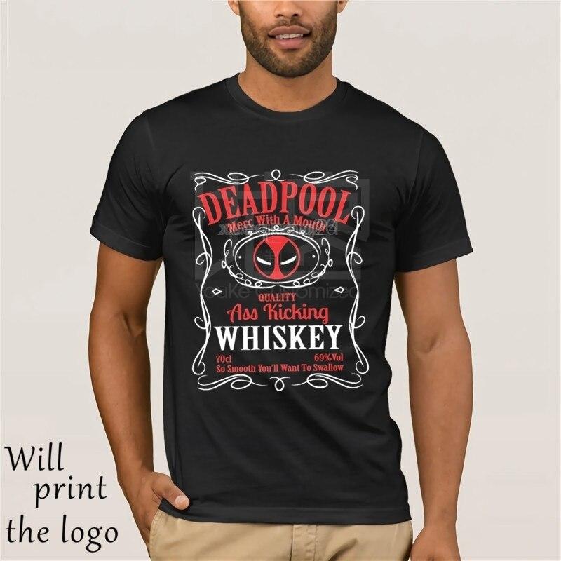 Inspirado por el personaje de DeadPool Mashup camiseta negro diseño serigrafiado todos los tamaños