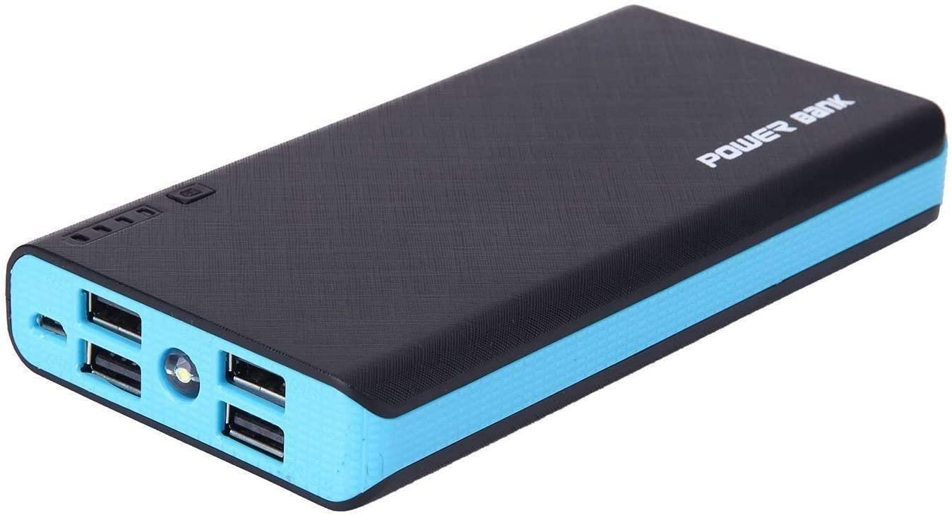 4 USB 50000mAh Mobile Power LED External Backup Battery Charger F Phone (Blue)power