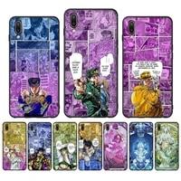 anime jojos bizarre adventure phone case case for oppo reno realme c3 6pro cover for vivo y91c y17 y19 funda capa