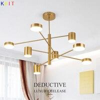 Modern Gold chandelier lighting nordic design rotatable branch ball led chandeliers for living room restaurant bedroom light fix