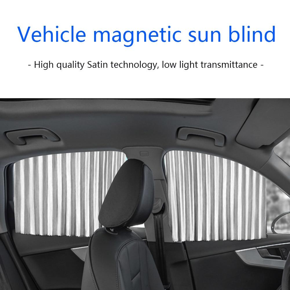 Parasol de ventana lateral para coche, decoración Interior de automóvil, partes para cortina magnética de riel Anti UV cortina de ventana