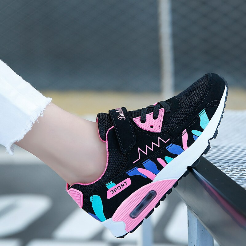 Summer Girls Sneakers For Children Casual Shoes Kids Sneakers Girls Shoees Cushion Sport Running Breathable Mesh tenis infantil