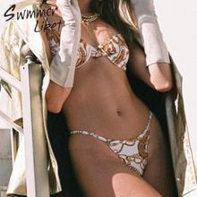 Vintage print bikini set High cut swimwear women 2019 Fashion Summer bathers Push up swimsuit female biquini Sexy bathing suit