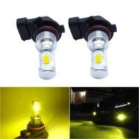 2x h1 h3 led fog light bulbs h8 h11 h7 9006 hb4 led csp 6000k white golden yellow drl car daytime running auto lamp car driving