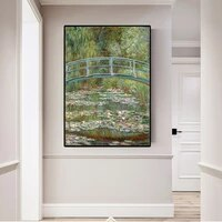 claude monet painting water lilies canvas wall art painting printed home decor oil canvas painting reproduction