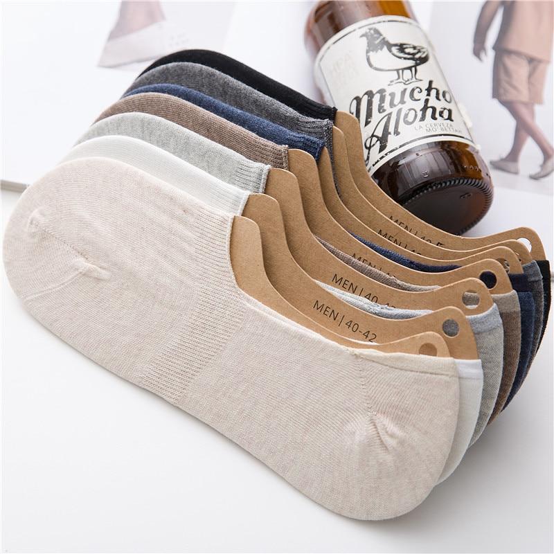 Large Size Men's Socks Pure Cotton Deodorant Socks Male Socks Ankle Socks Invisible Sweat-Absorbent