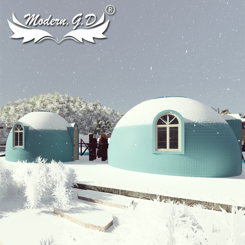 Mobile foam building Dome house