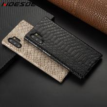 Étui en cuir de peau de serpent de luxe pour Samsung Galaxy S10 5G S9 Plus S10e Note 9 8 10 couverture rigide antichoc pour Samsung Note 10 Plus