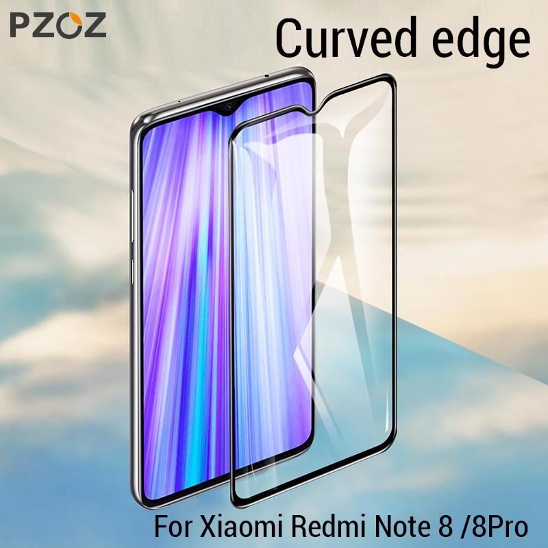 PZOZ para redmi k30 cubierta completa de vidrio templado Protector de pantalla para xiaomi redmi note 8 note8 pro 8t k30 Vidrio Templado