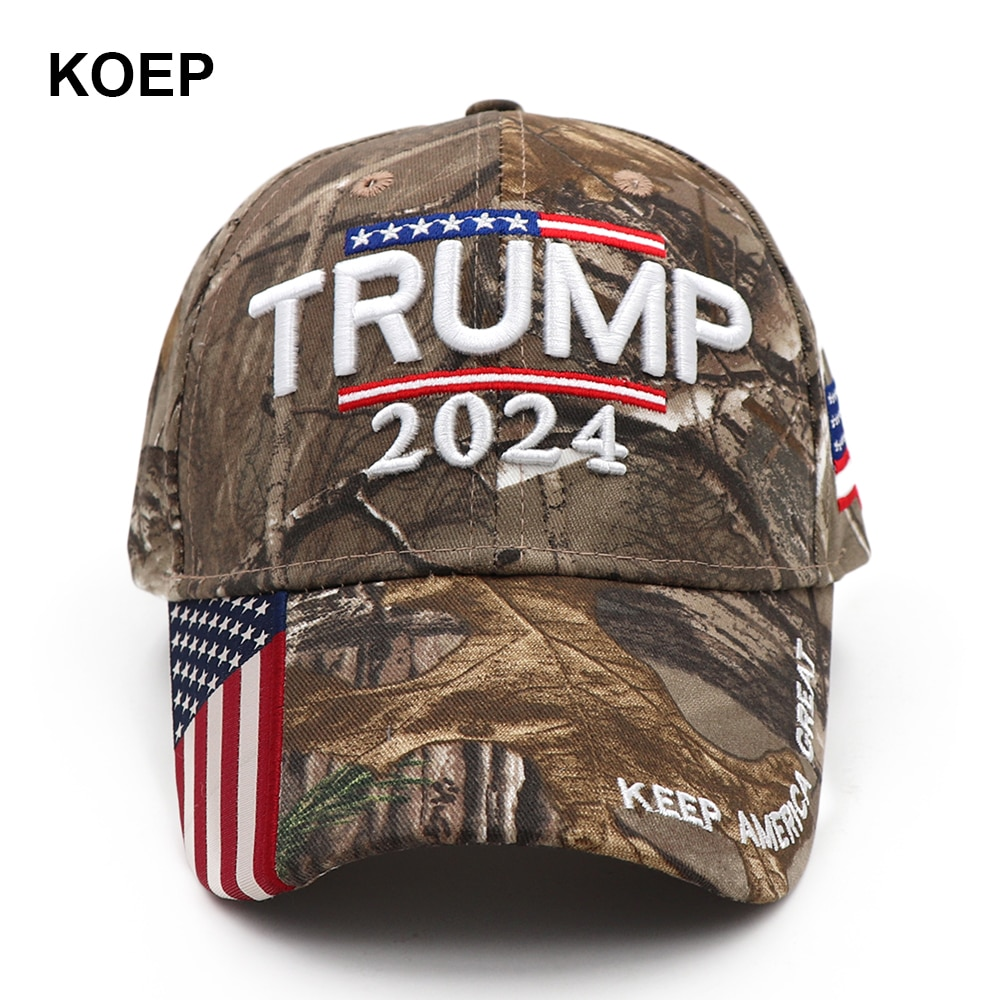 Donald Trump 2024 Cap Camouflage USA Flag Baseball Caps Keep America Great Again Snapback President Hat 3D Embroidery Wholesale