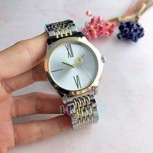 Fashion brand Women Watches Silver Gold Round Stainless Steel  Gu Band Quartz Watch Female Clock reloj mujer relogios