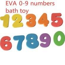 10 unids/set de juguetes de baño 0-9 rompecabezas alfanumérico Digital suave EVA números de espuma niños agua educación temprana juguetes de baño para bebés