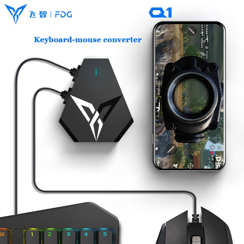 Adaptador convertidor de teclado flydigi-q1 Mouse, PUBG battleDock PUBG Bluetooth, controlador compatible con Android auxiliar/IOS