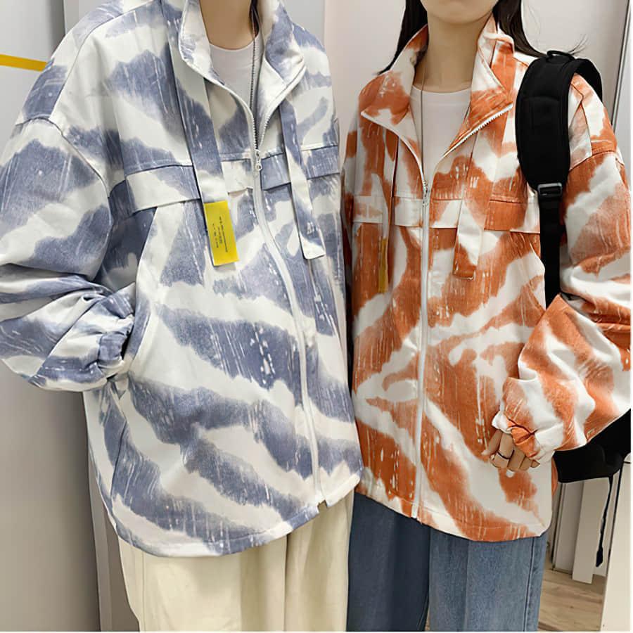 Осенне-весенние куртки в стиле Харадзюку, мужские повседневные куртки с принтом в стиле унисекс