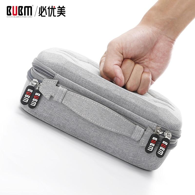 BUBM 가방 보조베터리 디지털 수신 액세서리 케이스 ipad 케이블 주최자 휴대용 가방 USB