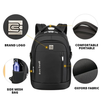 Business School Outdoor Sports Anti-theft Laptop Backpack Men and Women City Walking Bag USB Charging 30L-38L  Purse (5008)