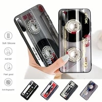 classical old cassette tape silicone phone case cover for samsung a51 a71 a50 a21 a20 a20e a31 a30 a40 a70 a01 a10 a11 a30s