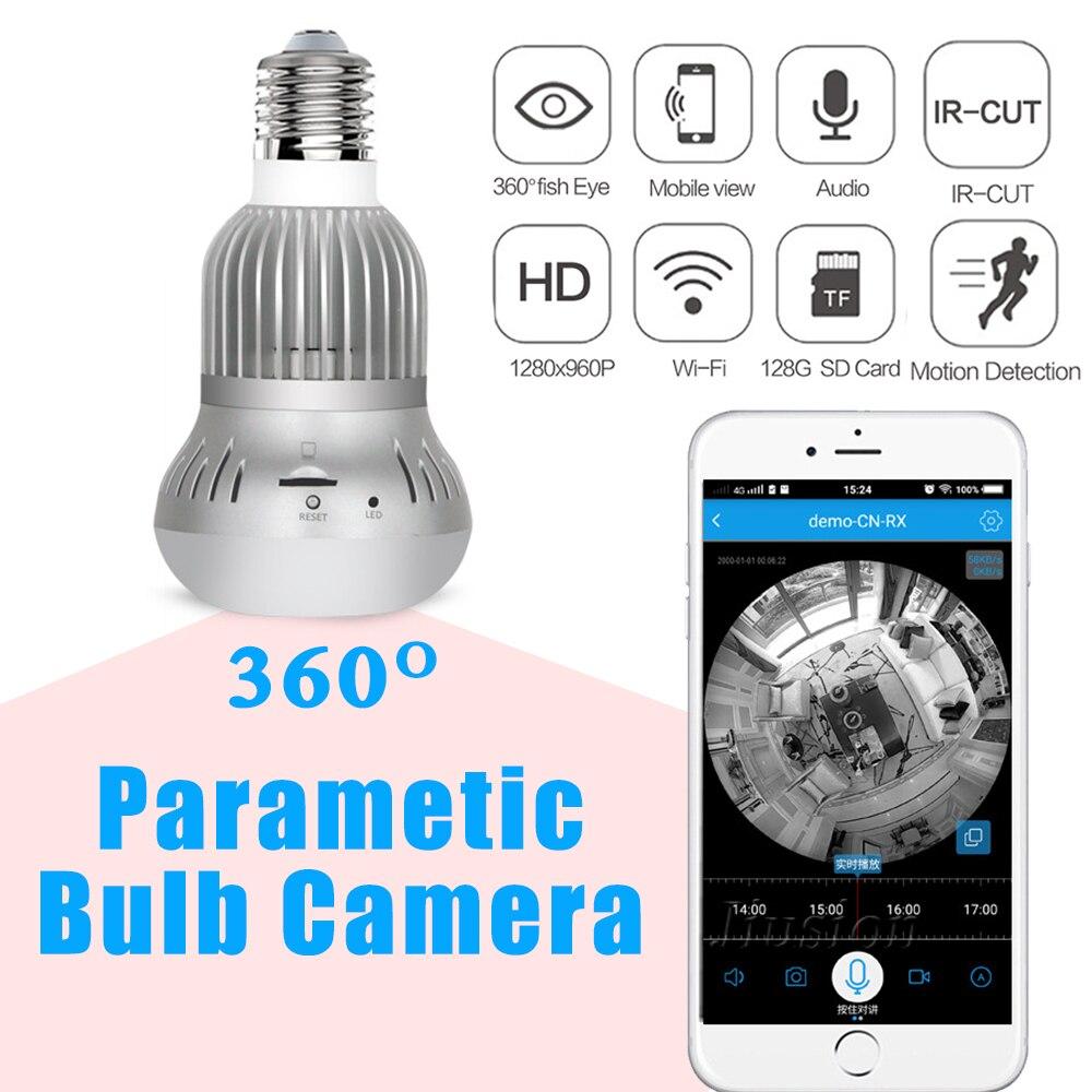 360 caméra Mini Wifi Kamera vidéo maison bébé moniteur télésurveillance Lampada Espia IP caméra CCTV Fisheye Smart sécurité Action Webcam