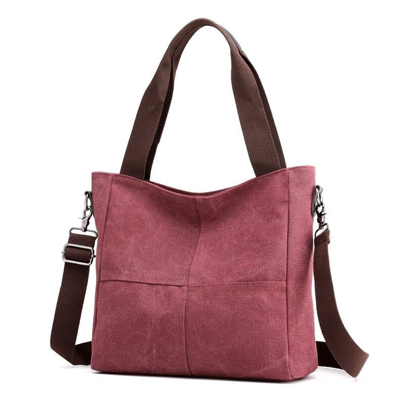 New Women's Bag Canvas Handbag Messenger Bag Women Designer Brand Women's Handbag Fashion Purse Female Shoulder Cloth Bag