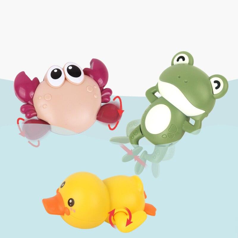 Juguetes de baño para bebé de 0 a 12 meses, Rana, juguete de agua clásico para bebé, tortuga Nadadora para niños, cadena enrollada, mecanismo de cuerda para niños, juguetes de playa, regalo