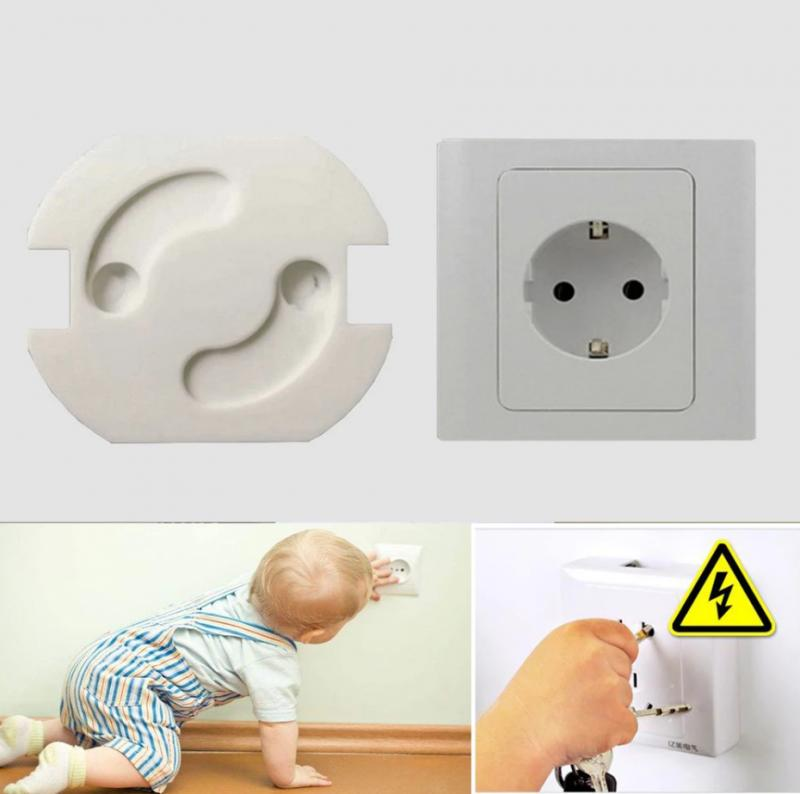 10pcs Socket Protection Electric Shock Hole Children Care Baby Safety Electrical Security Plastic Safe Lock Cove Outlet Cover