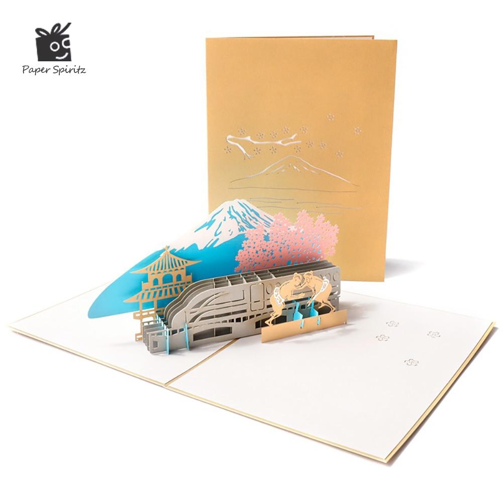 3D открытки с выдвижным креплением Fuji открытка на день рождения подарки на годовщину открытка на годовщину Рождество поздравительные откры...