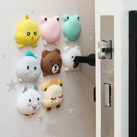 fashion cartoon door stopper doorknob rubber fender lock protective pad door crash pad wall protector savor shockproof crash pad