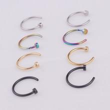 Кольцо для носа с кольцом для губ, 1 шт./лот, 6/8/10 мм, из нержавеющей стали