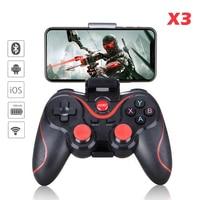 Геймпад X3 Беспроводной Bluetooth Джойстик ПК Android IOS игровой контроллер BT4.0 игровой площадкой для Мобильный телефон планшет ТВ коробка держатель