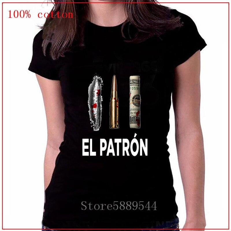 Parody Plata O Plomo Camisa T shirt Women Funny Guardfather Pablo t-shirt Silver or Lead T-shirt EL Patron Escobar Tee shirt