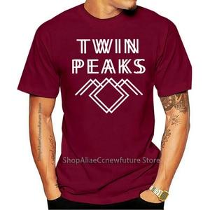 2021 T-shirt Twin-peak Short Sleeve Creative Clothing Cotton Wool Neck Large Size Popular Fashion TV Series