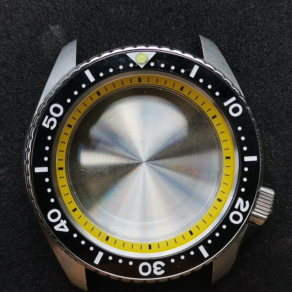 Diver Watch Case For NH35A NH36A Sapphire Crystal Stainless Steel Watch Case Ceramic Bezel SKX007 SKX009 Diving Watches Cases enlarge