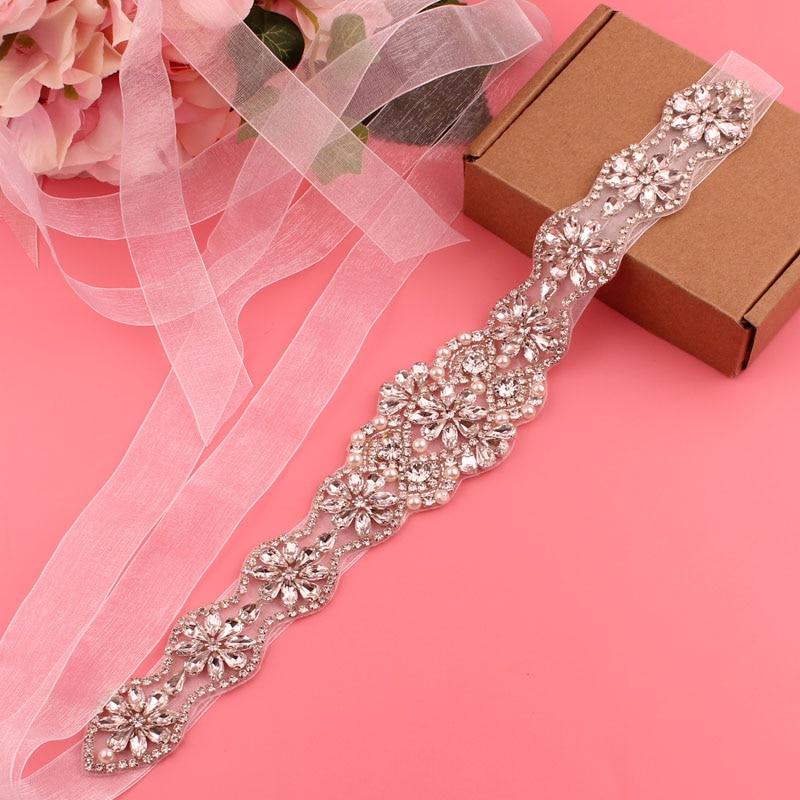 YJWSXF bridal belt ladies wedding dress rhinestone bridesmaid accessories