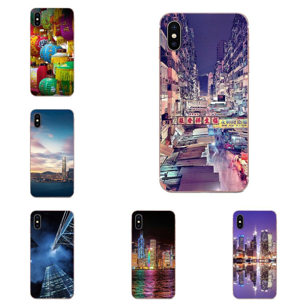 Hong Kong Sunset Wolkenkratzer Stadt Bucht Für Samsung Galaxy Note 8 9 10 Pro S4 S5 S6 S7 S8 S9 s10 S11 S11E S20 Rand Plus Ultra