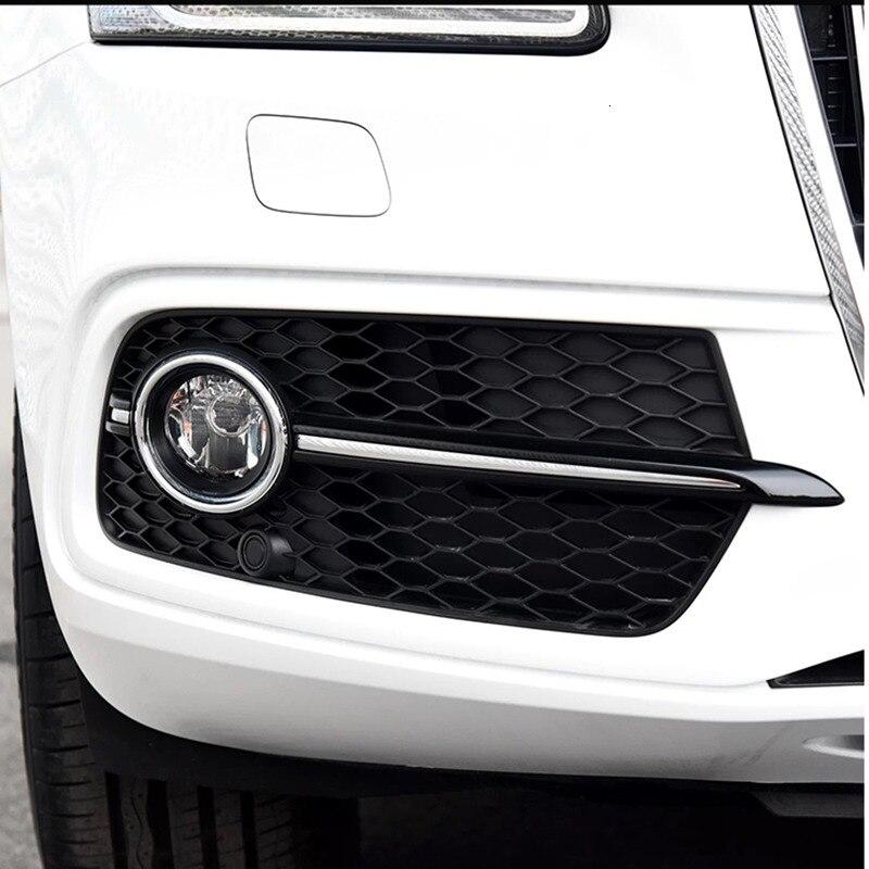 Nueva rejilla de lámpara antiniebla ABS Honeycomb para Audi Q5 s-line SQ5 Sport 2013-2018 luz antiniebla del parachoques delantero Lowside Cover 8R0807681N 682N