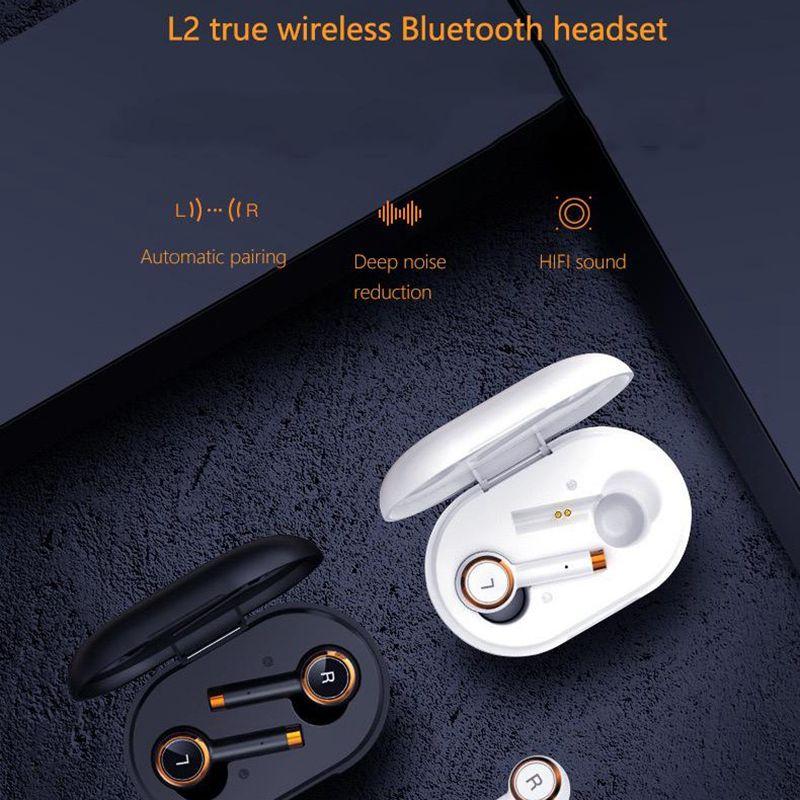 L2 TWS bluetooth earphones Business headset sports waterproof earbuds music Earpieces Mini wireless Headphones For Xiaomi iPhone