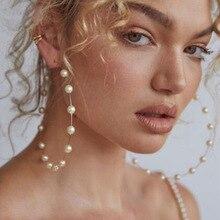 ZILPOIT جديد مجوهرات الأزياء بيجو هدايا بالجملة دائرة كبيرة انخفاض الأقراط المستديرة للنساء مقلد بيرل القرط 15g