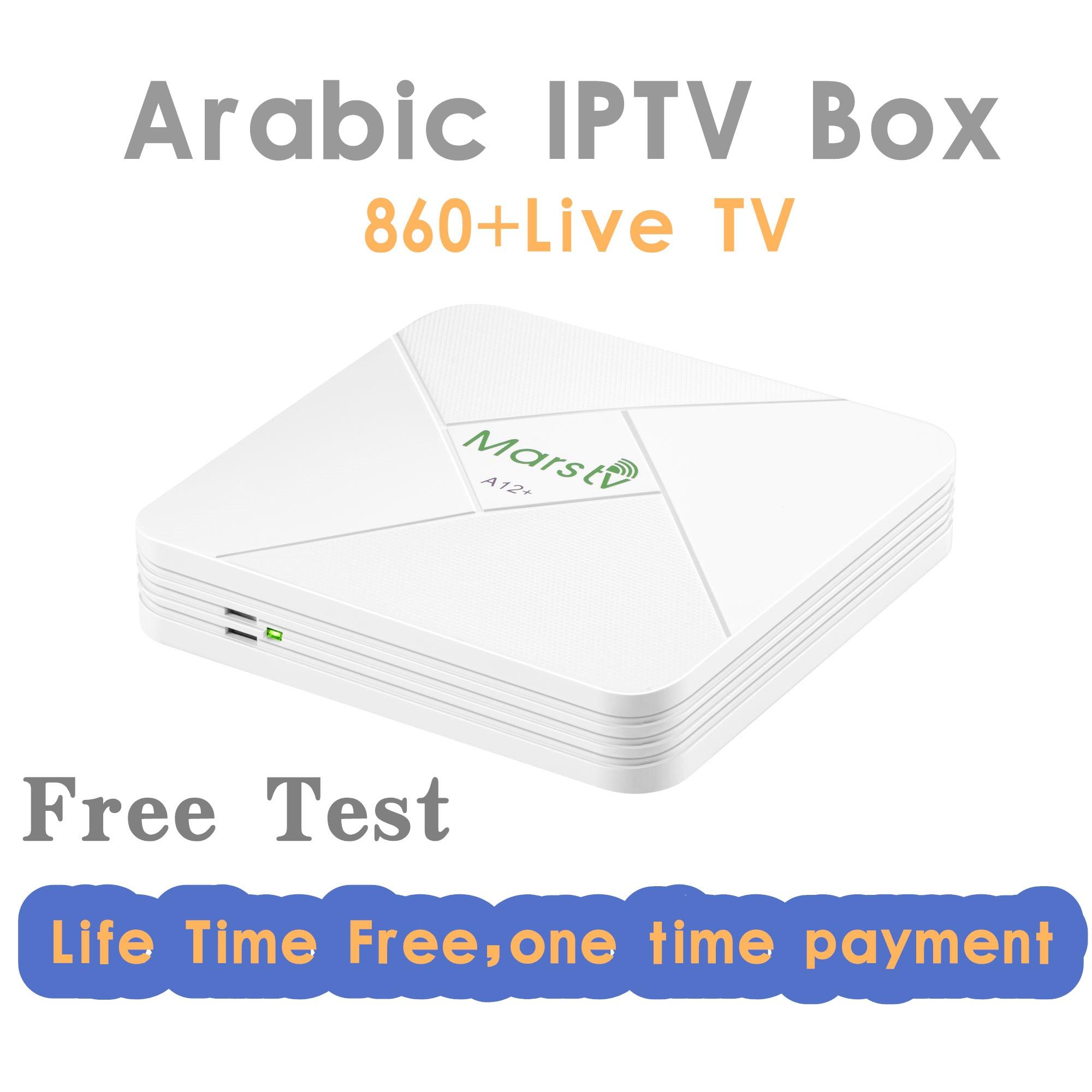 Vida IPTV arábico gratis caja con 860 + TV Fr/África/sueco/Árabe IP TV Box libre para siempre iptv código
